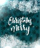 Merry Christmas and Happy New Year concept greeting card design. Stock Photos