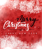 Merry Christmas and Happy New Year concept greeting card design. Royalty Free Stock Images