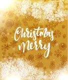 Merry Christmas and Happy New Year concept greeting card design. Stock Photography
