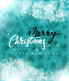 Merry Christmas and Happy New Year concept greeting card design. Royalty Free Stock Photo