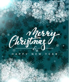 Merry Christmas and Happy New Year concept greeting card design. Stock Photo