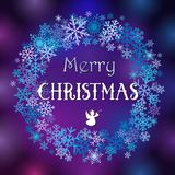 Merry Christmas and A Happy New Year congratulations Stock Photo