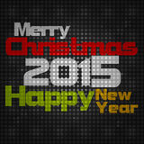 Merry Christmas and Happy New Year 2015 Royalty Free Stock Photos