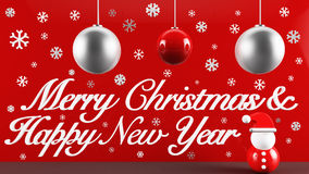 Merry Christmas and Happy New Year. Design Royalty Free Stock Photos