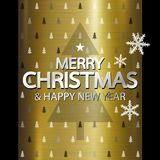 Merry christmas and Happy new year design Stock Photography