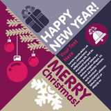 Merry Christmas and Happy New Year! Royalty Free Stock Photos
