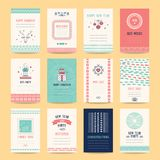 Merry Christmas, Happy New Year Design Templates royalty free illustration