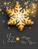 Merry christmas happy new year. Easy all editable Royalty Free Stock Photography