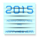 2015 Merry Christmas and happy new year, the effect of blinds. EPS 10. 2015 Merry Christmas and happy new year, the effect of blinds, paper-like effects with Royalty Free Stock Photo
