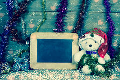Merry christmas and happy new year, filter effect Royalty Free Stock Photos