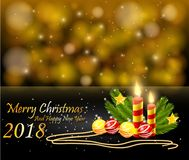 Merry christmas and Happy new year 2018 Stock Photography