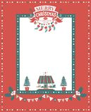 Merry Christmas and Happy New Year frame. Christmas frame for congratulations, invitations, postcards. With lettering composition merry Christmas and a Happy New Royalty Free Stock Photo