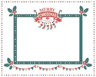 Merry Christmas and Happy New Year frame. Christmas frame for congratulations, invitations, postcards. With lettering composition merry Christmas and a Happy New Royalty Free Stock Images