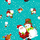 Merry Christmas and Happy New Year Friends Santa Claus Royalty Free Stock Images