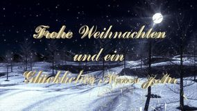 Merry Christmas and Happy New Year in German Language - Videosequence. Merry Christmas and Happy New Year in German Language - 10 Seconds Videosequence stock video