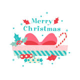 Merry Christmas and Happy New Year. 2017. Merry Christmas and Happy New Year. Gifts, boxes and sweets in flat style. Vector illustration Stock Photos