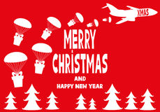 Merry Christmas and Happy New Year. Gifts and greetings Merry Christmas and Happy New Year Royalty Free Stock Image