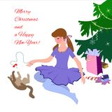 Merry Christmas and a Happy New Year Stock Photography