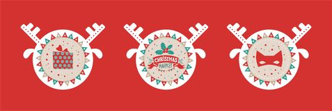 Christmas market emblem, sign royalty free illustration