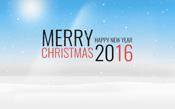 Merry Christmas Happy New Year 2016 Royalty Free Stock Photography