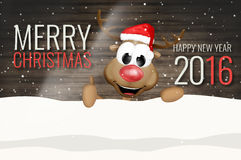 Merry Christmas Happy New Year 2016. Graphic background design Royalty Free Stock Photo