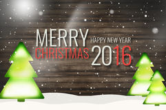 Merry Christmas Happy New Year 2016 Stock Photography