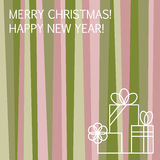 Merry Christmas and Happy New Year greeting car Royalty Free Stock Photos