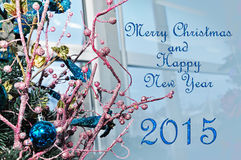 Merry Christmas and Happy New Year. Christmas and New Year greeting card Royalty Free Stock Photography