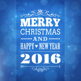 Merry christmas and happy new year 2016 greeting card. Merry christmas and happy new year 2016 background. greeting card stock illustration