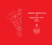 Merry christmas and happy new year greeting card. Merry christmas background and greeting card design Stock Illustration
