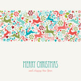 Merry Christmas and Happy New Year greeting card. Background. EPS10 file organized in layers for easy editing stock illustration