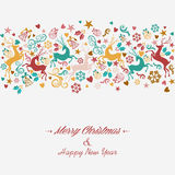 Merry Christmas and Happy New Year greeting card. Background. EPS10 file organized in layers for easy editing royalty free illustration