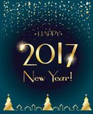 2017 Happy New Year  Stock Image