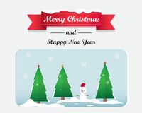 Merry Christmas and Happy New Year Greeting Card Background Illustration Royalty Free Stock Photos