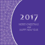 Merry Christmas and happy New year 2017. Greeting card, banner, poster, leaflet Stock Photos