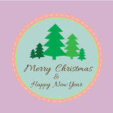 Merry Christmas and Happy New Year greeting card with Christmas Stock Images