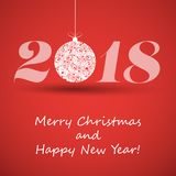 Merry Christmas and Happy New Year Greeting Card, Creative Design Template - 2018. Best Wishes - Abstract Colorful Modern Styled Happy Holidays Cover or Stock Photos