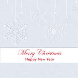 Merry Christmas and Happy New Year greeting card Stock Photo