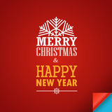 Merry Christmas and a happy New Year greeting card Royalty Free Stock Photos