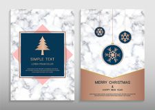 Merry Christmas and Happy New Year Greeting card design template. Merry Christmas and Happy New Year Greeting card design template, Minimalistic banner and vector illustration