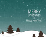 Merry Christmas and Happy New Year greeting card d Royalty Free Stock Images