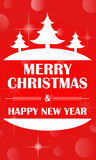 Merry Christmas and Happy New Year greeting card  Royalty Free Stock Images