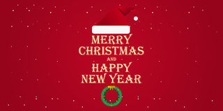 Merry Christmas and Happy New Year 2017. Greeting card,  flat illustration. Merry Christmas and Happy New Year 2017. Greeting card,  flat illustration Royalty Free Stock Image