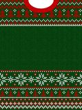 Merry Christmas Happy New Year greeting card frame scandinavian ornaments. Ugly sweater Merry Christmas and Happy New Year greeting card frame border . Vector royalty free illustration