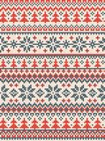 Merry Christmas Happy New Year greeting card frame scandinavian ornaments. Ugly sweater Merry Christmas and Happy New Year greeting card frame border . Vector stock illustration