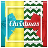 Merry Christmas and Happy New Year greeting card with gift boxes background Royalty Free Stock Images