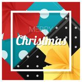 Merry Christmas and Happy New Year greeting card with gift boxes background Royalty Free Stock Image