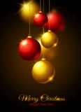 Merry Christmas and Happy New Year Greeting card. Royalty Free Stock Photos