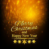 Merry Christmas And Happy New Year. Greeting Card Stock Photography
