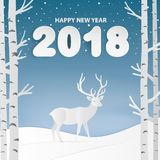 Merry Christmas and Happy New Year greeting card. Happy new year Royalty Free Stock Photo